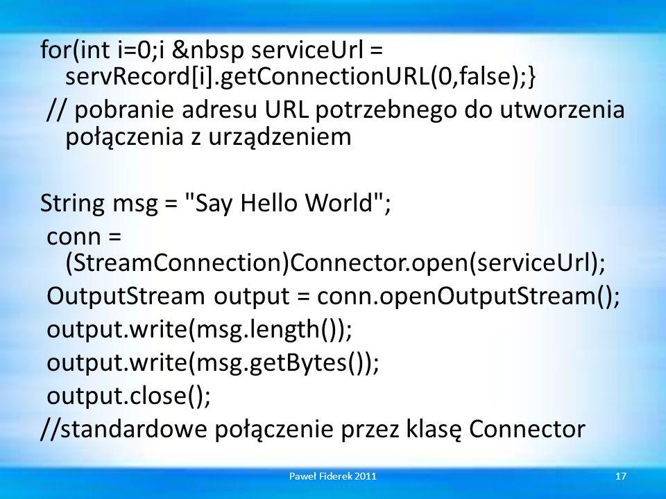 for(int i=0;i &nbsp serviceUrl = servRecord[i]